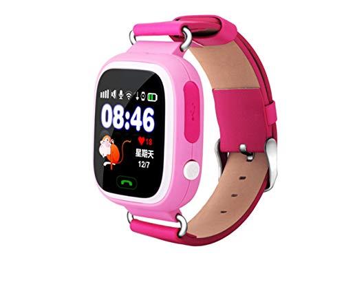 QETU Q90 Relógio Inteligente Infantil – Relógio com Posicionamento de Telefone GPS para Crianças de 3,5 cm Tela de Toque Colorida – Compatível com Android 3.0 e Acima, iOS 6.0, C