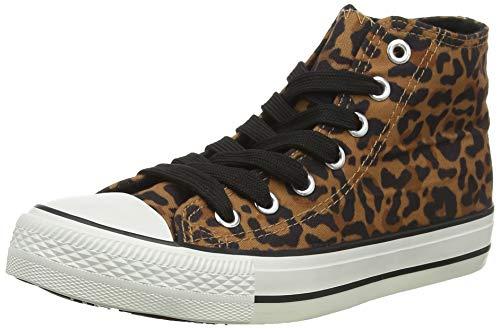 New Look Damen 5697366 Hohe Sneaker, Beige (Stone 16), 37 EU