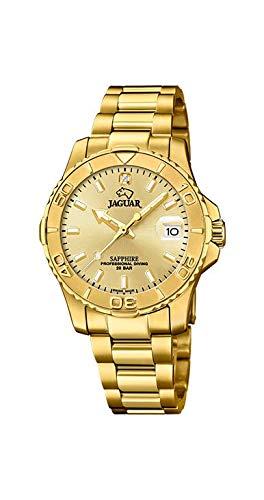 JAGUAR Reloj Modelo J898/2 de la colección Woman, Caja de 34 mm champán con Correa de Acero Chapado para señora