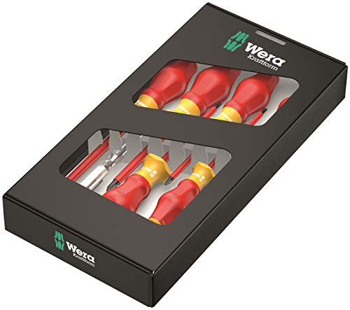 Wera 6PC Screwdriver Set Electrician's 1000V Insulated Phillips & Slotted