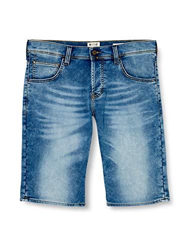 MUSTANG Herren Chicago Shorts, Blau (Medium Bleach 313), W35 (Herstellergröße: 35)