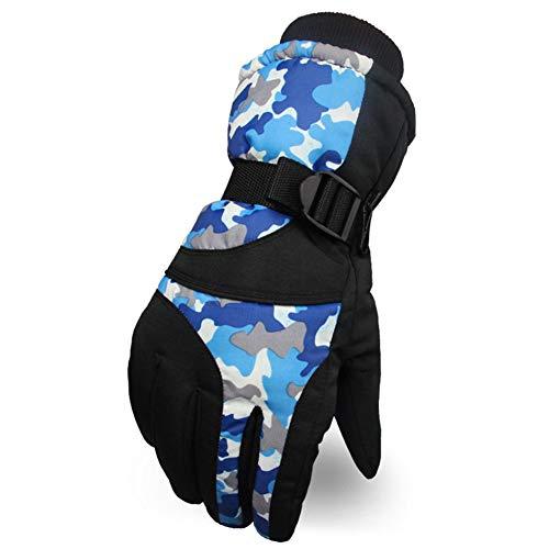 LYJNBB Gants de Ski imperméables, pour Hommes avec Poche Gants Thermiques pour l'hiver, Convient aux Hommes Ski Alpin Snowboard Vélo Escalade Sports de Plein air, 3 Couleurs,Blue