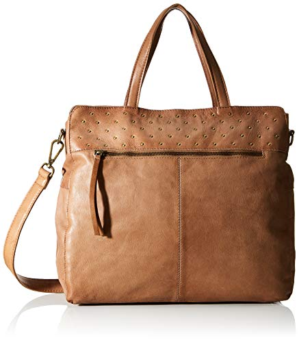 PIECES PCMARION Leather Shopper FC, Bolsa para Mujer, Coco Tostado, One Size