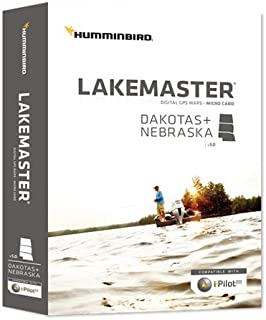 Humminbird Lakemaster Dakotas + Nebraska Edition Digital GPS Lake Maps, Micro SD Card, Version 5