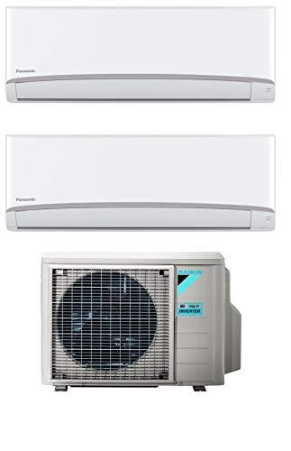 Climatizzatore Dual Split 9000 + 12000 Btu, Inverter, Classe A++/A++ - Serie Emura Bluevolution FTXJ-MW