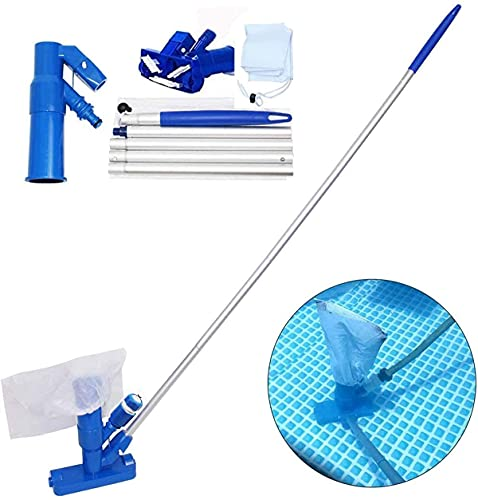 HD HARUDONE Portable Pool Reiniger, Hand Pool and spa Vacuum Brush, Underwater Cleaner with Brush, with Bag and Rod, ideal for Above-Ground Pools, Ponds, SPA, Pools, Handheld Brush