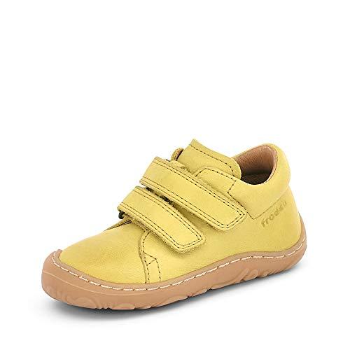 Froddo Jungen G2130225 Babyschuhe Lauflernschuhe Glattleder Uni Klettschuhe Girl, Groesse 23, gelb