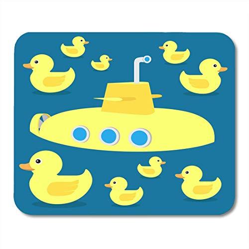 Mousepad, Badezimmer Tier Gelb Gummi Ente Spielzeug U-Boot und Bad Bath Boy Mikro-strukturierte Maus Pad Matte für Unisex-Arbeit,18x22cm