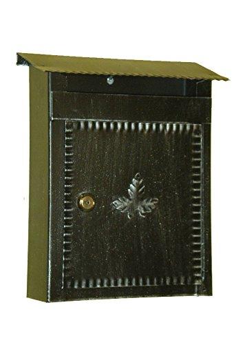 Lorenz Ferart 6001.0 brievenbus, smeedijzer, frame zwart handgetint, zilver