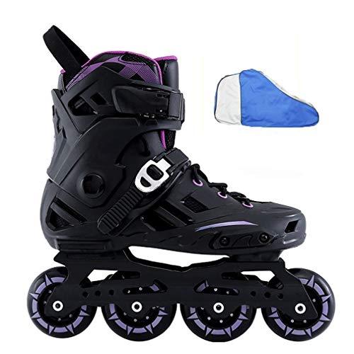 Inline Skates, Rollschuhmädchen Rollschuhklagen Lila Schwarz Weiß Geeignet Für Erwachsene Jugendliche Flash-Laufräder (Color : Purple, Size : 41)