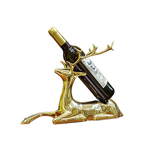 LL-COEUR Cerf 100% Cuivre Porte-bouteille Décoration Casier à Vin Original Support pour Bouteille Sculpture (couleur 2)