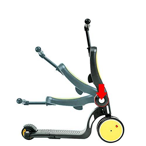 HVFXW Kinderroller, 5-in-1-Kinderdreiräder für 2-6-Jährige mit klappbarem Sitz und höhenverstellbarem Lenker,...