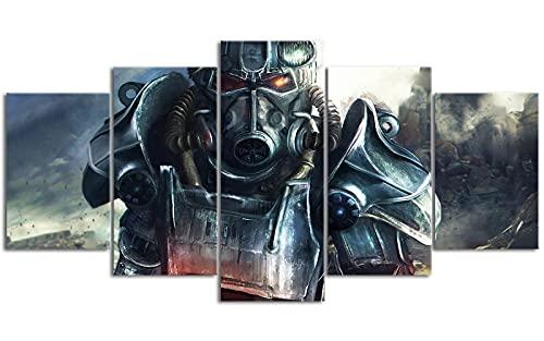 5 carteles Fall_out Radiation crisis Pintura en lienzo 78.7 'x39.4' Aumentar el arte Se necesita usar con el marco