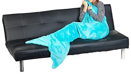 Wilson Gabor Meerjungfrauendecke: Weiche Meerjungfrau-Decke mit Flosse für Erwachsene, 180 x 70 cm, grün (Flossendecke)