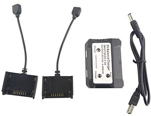 ZYGY 2 in 1 Caricabatterie bilanciato USB Caricabatterie per HS700 HS700D MJX Bugs 3 PRO B3pro D85 EX2H RC Quadcopter Batteria al Litio Caricabatterie Drone