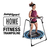 JumpSport 125 Home Fitness Trampoline   Professionals Choice   Three-Sided Wrap Around Handlebar   Silent, Cushioned Bounce   44 Inch Diameter Frame