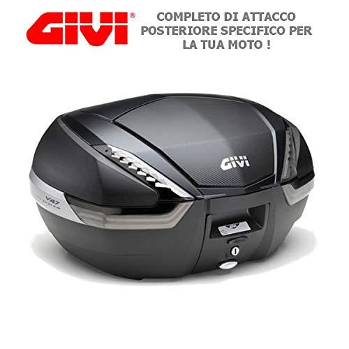 Kit baúl maleta 47 LT V47NNT Givi + SR5107 compatible con BMW F 650 GS 2008