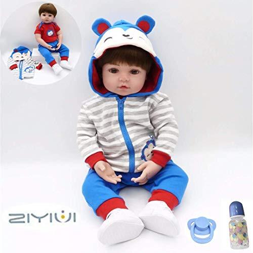 """Reborn Doll 22 """"/ 55 CM Hecho a Mano Realista Reborn Baby Doll Playmate Vinilo de Silicona Suave Muñecas para niños Regalos de cumpleaños"""
