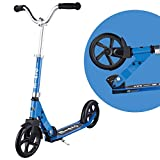 Micro Cruiser Big-Wheeled, Low-Ride, 2-Wheeled Foldable Micro Scooter for Kids and Teens, Ages 8 and up - Blue