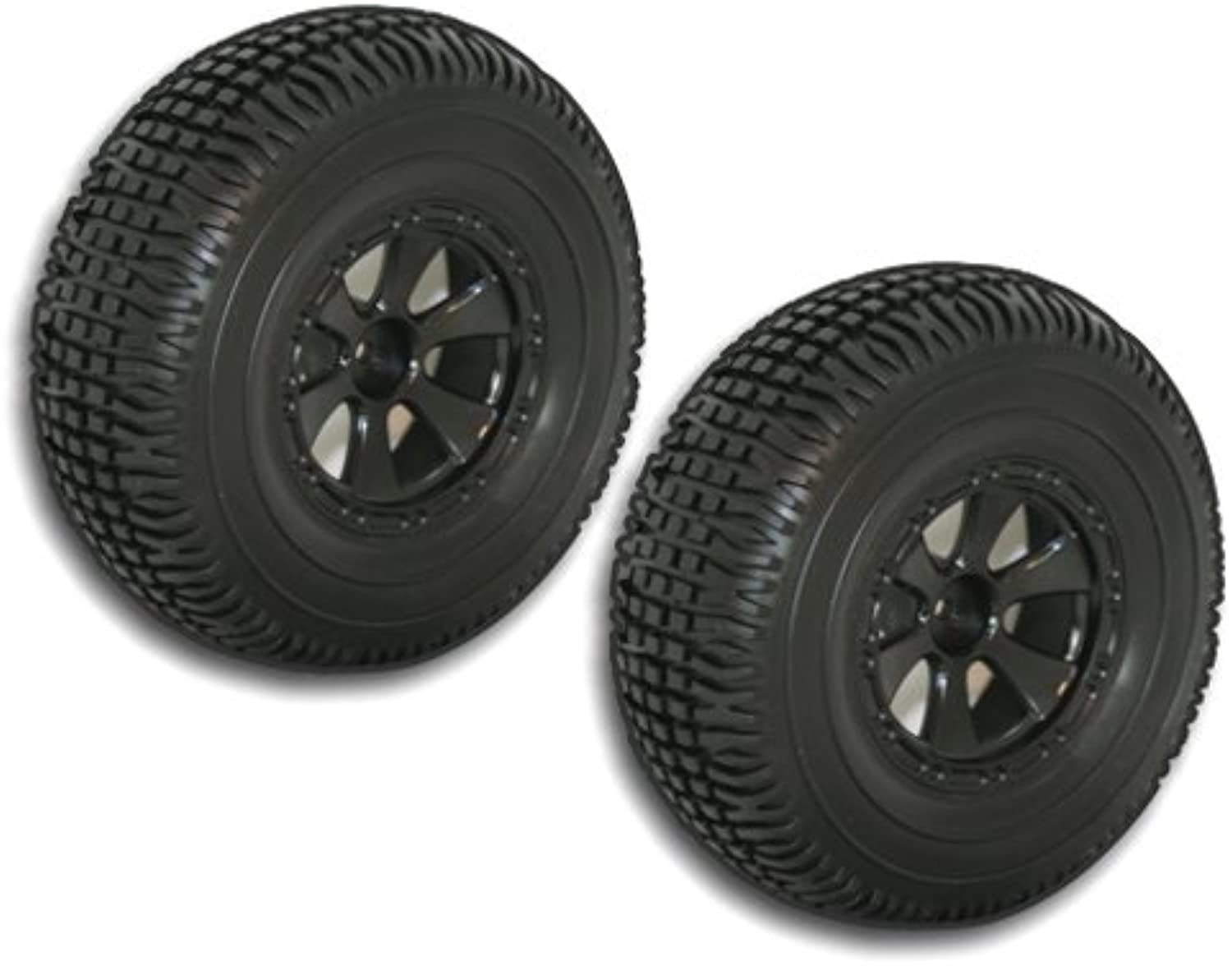 Redcat Racing Black Short Course Wheels and Tires, 2-Piece