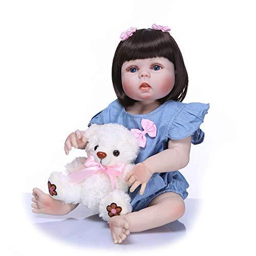 WYZQ Reborn Dolls, Princess Girl Doll Hecho a Mano de Cuerpo Completo de Silicona Bebe Doll Reborn Baby Dolls Niños Bañarse Jugar a Las Casitas Muñeca de Juguete para niñas Muñecas nutritivas
