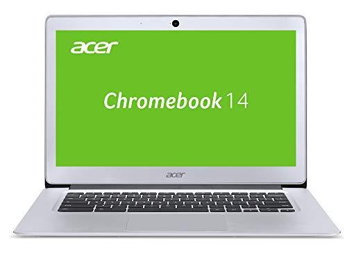 Acer Chromebook 14 Notebook (14 Zoll Full-HD IPS matt, Aluminium A-Cover, 17mm flach, extrem lange Akkulaufzeit, schnelles WLAN, HDMI, Google Chrome OS) Silber