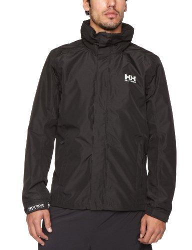 Helly Hansen Dubliner Jacket Chaqueta Chubasquero para Hombre de Uso Diario y para Actividades marítimas con la tecnología Helly Tech, Negro, L