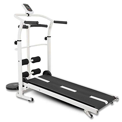 JINQI Multifunction Non Motorised Non Folding Treadmills Low Noise with Roller Mechanical Walking Machine...