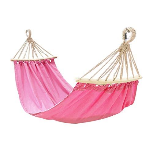 Hamacs Jardin et Patio De Balcon pour La Cour Spécial pour Enfants À Balançoire De Jardin D'extérieur Portable, Poids D'environ 120 Kg (Color : Pink, Size : 150 * 75cm)