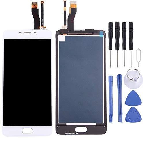 La selección de Cici For Meizu M5 Nota/Meilan Nota 5 de la Pantalla LCD y digitalizador Asamblea Completa (Negro) (Color : White)