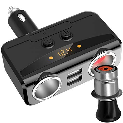 Cargadores de coche Cargador De Coche Adaptador De Cargador De Coche USB Con Encendedor De Cigarrillos Tipo C PD 2.0 Carga Rápida 1A + 2.1A 12-24V Universal Con Tecnología ISmart2.0 Negro Cargadores d