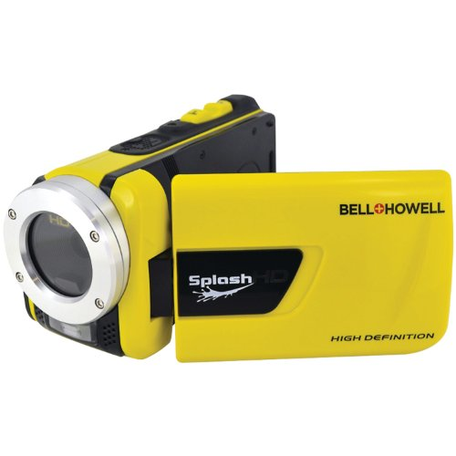 bell howell cheap camcorders Bell+Howell Splash WV30HD-Y 1080p Full HD Digital Waterproof Video Camera with 1x Optical Zoom with 3.0-Inch LCD Screen (Yellow)