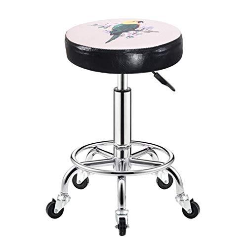 QLIGAH Taburete de salón de la silla/con 5 ruedas/silla del taburete para el salón del balneario masaje cocina oficina tienda club bar