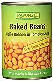 RAPUNZEL Baked Beans in der Dose, Weiße Bohnen in Tomatensauce, 6er Pack (6 x 400 g) - Bio