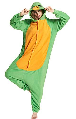 DATO Pyjama Tier Onesies Schildkröte Erwachsene Kigurumi Unisex Cospaly Nachtwäsche für Hohe 140-187CM