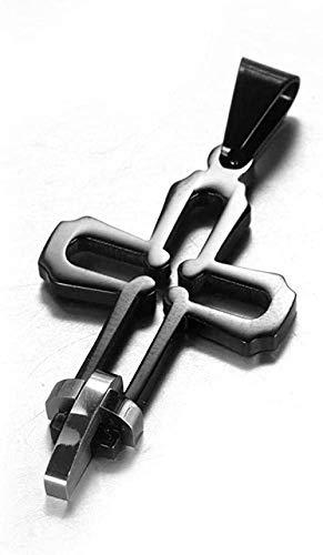 NC110 Collar Collares para Hombre Collar de Cruz para Hombre_Europa y América Joyería de Acero Inoxidable Venta al por Mayor Cruz pequeña Colgante de Acero de Titanio Simple