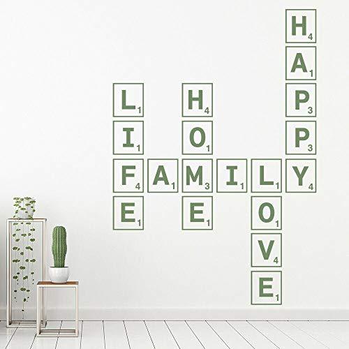 Divertido creativo azulejo Scrabble etiqueta de la pared palabra amor vida decoración creativa vinilo   Calcomanía Arte Mural Diseño De Interiores