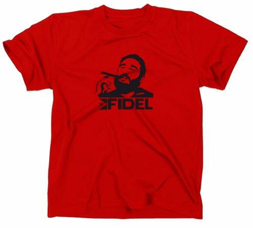 Coole-fun-t-shirts fidel castro t-shirt cuba Large Rouge - Rouge
