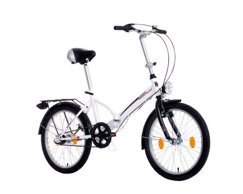 Karcher Faltrad, 3-Gang Rücktrittbremsnabe, weiß, Rahmenhöhe: 36 cm, Reifengröße: 20 Zoll (50,8 cm), 280187