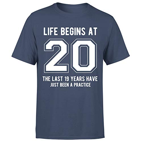 Life Begins at 20 Years Birthday Gift for Him - Camiseta de regalo para hombre