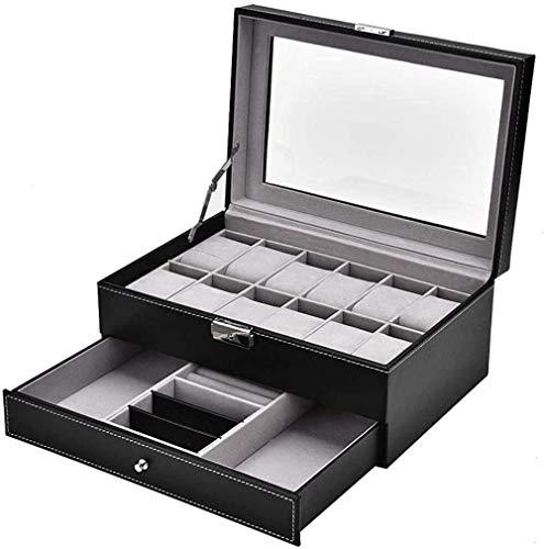 ボックス、リングディスプレイトレイ、収納ボックス、ギフトボックス、ビーズストレージディスプレイケースホルダーイヤリングオーガナイザーショーカジュアットボックス、ジュエリーオーガナイザーボックス、腕時計ディスプレイボックス12枚のダブルスモ