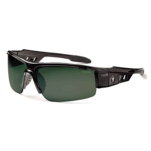 Ergodyne Skullerz Dagr Polarized Safety Sunglasses- Black Frame, G15 Lens
