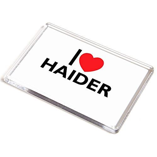 Unbekannt Jumbo-Magnet – I Love Haider – Geschenk für Jungen