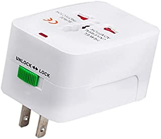 SODIAL US to EU Europe & Universal AC Power Plug Worldwide Travel Adapter Converter