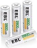 ♻️【 EBL AA BATTERIE RICARICABILI 】- 4 pezzi 2800mAh 1.2V NiMh AA batterie ricaricabili,e una scatola di protezione per ogni 4 batterie.Questa scatola protettiva montabile sulla parete, conservazione più comoda. ♻️【DURATA LUNGA 】- Possono essere caric...