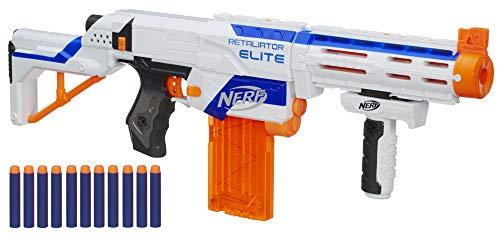 Blaster lancia dardi Fornito con dardi ufficiali Nerf Elite Spara ad oltre 20 m di distanza Età consigliata: 8 anni e più