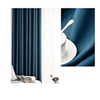 カーテンはシンプルで軽く、豪華でハイエンドのシェーディング、ベッドルームとリビングルームの床から天井までのカーテン、ハイエンドの精密な純粋な色のモダンです,blue 8m