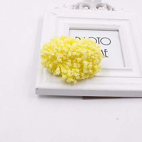 Floral Decor 12pcs Man Star Bubble Baby Breath Artificial Flower Wedding Home Decorative DIY Scissors Decorative Garland Fake Flower - (Color: Yellow)