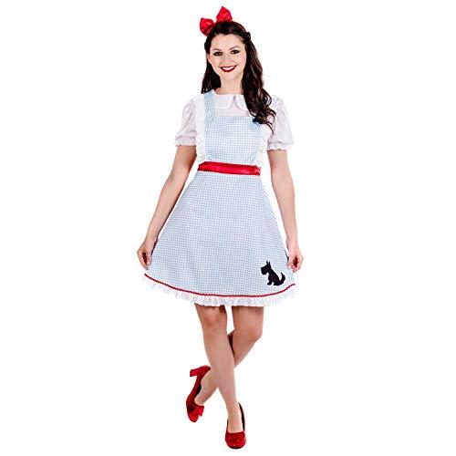 Fun Shack Disfraz de Dorothy para Mujer. Vestido de la película y el Libro El Mago de Oz para Adultos, Talla L
