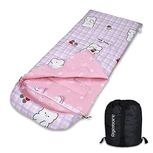 Kinderschlafsack, 100% Baumwolle Schlafsack für Kinder und Jugendliche, Super weicher und Warmer Schlafsack, ideal für Pyjamaparty, Reisen, Camping und Nickerchen, drinnen und draußen